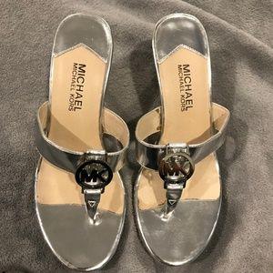 Brand New MK silver wedge sandal